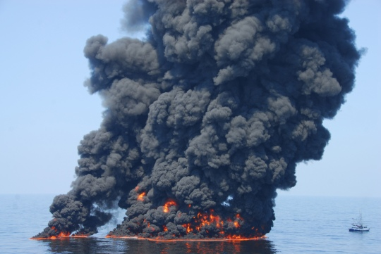 Controlled Burn of BP's Oil Spill