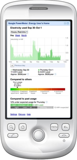 Google's PowerMeter on a Smartphone